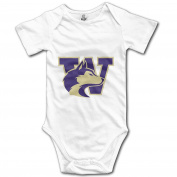 TM187 Infant University Of Washington Playsuit White