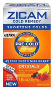 Zicam Ultra Cold Remedy Berry/ Lemonade Crystals, 18 Count