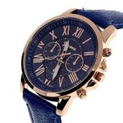Women Watch ,Sandistore Women Roman Numerals PU Leather Analogue Quartz Wrist Watch