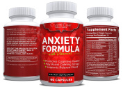 Anxiety Relief and Stress Support Supplement, Best for Serotonin Increase (60) Capsules