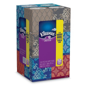 Kleenex Ultra Soft & Strong Facial Tissues, Medium Count Cubes, 75 ct, 12 Cubes 900 Total Tissues