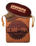 LEGENDS Signature Series 100% Boar Hair Beard Brush + Outback Sack