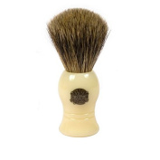 Vulfix Pure Grey Badger Shaving Brush, Faux Ivory Handle