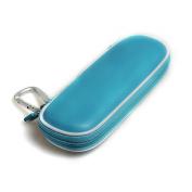 For Schick Hydro Silk TrimStyle Moisturising Razor Women Bikini Trimmer Hard EVA Protective Travel Case Carrying Blue by Hermitshell