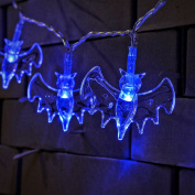RECESKY Bat String Lights 20 LED 2.2m Battery Operated Halloween String Lights for Indoor, Holiday, Party, Festival, Halloween Decorations