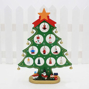 XY Fancy DIY Wooden Christmas Tree Ornaments Christmas Table Decor M Green