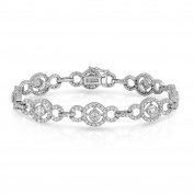 Noray Designs 14K White Gold Diamond (3.82 Ct, G-H, SI2-I1 Clarity) Circle Tennis Bracelet