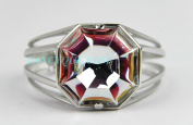 BACCARAT jewellery LILLUSTRE LARGE CUFF BRACELET MIRROR CLEAR STERLING SILVER