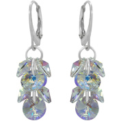 """Royal Crystals """"Made with Elements"""" Grape Cluster Dangle Earrings"""