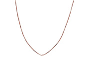 Sterling Silver Rose Gold Plated Box Chain Necklace 80cm