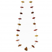 Spaced Out Beaded Amber Necklace
