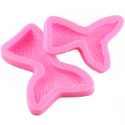 Mujiang Mermaid Tail Silicone Jelly Sugar Chocolate Fondant Moulds Large+Small