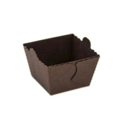 Novacart Easybake Brown Cube Mould with Tab