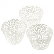 LEORX Flower Vine Filigree Cake Cup Cupcake Cases Wrapper Wraps Liner - 120 Pieces