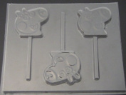 Pepper Pig Face Chocolate Candy Lollipop Mould