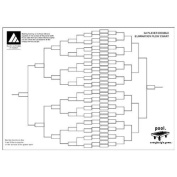 Double Elimination 32 Player Sports Tournament Wall Chart