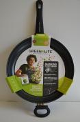GreenLife CW002046-002 Soft Grip Diamond Reinforced Ceramic Non-Stick Open Fry Pan, 30cm , Black