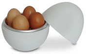 Nellam Microwave Egg Cooker - 4 Eggs Cooker and Egg Boiler - Hardboiled Egg Cooker and Easy Egg Poacher - Nellam Kitchen Products