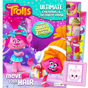 Dreamworks Trolls Colouring and Activity Book with 2 Posters, Trolls Stickers and Licenced Reward Sticker