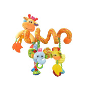 X-star Baby Pram Crib Ornament Hangings Cute Little Deer Shape Design Spiral Plush Toys Stroller and Travel Activity Toy