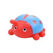 Jutao Plastic Floating Water Bath Squirties Toy For Baby Ladybird