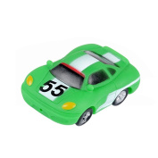 Jutao Plastic Floating Water Bath Squirties Toy For Baby Green Car