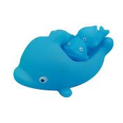 WINOMO 4pcs Baby Kids Bath Toys Squeaky Mummy Baby Dolphins