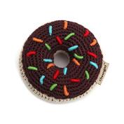 Cheengoo Organic Bamboo Crocheted Chocolate Donut Rattle