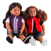 ZWSISU Doll Clothes Set Include Doll T-shirt Vest Shorts Fits 46cm American Girl Doll,Our Generation and Journey Girls Dolls