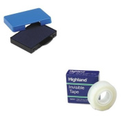 KITMMM6200341296USSP5430BL - Value Kit - U. S. Stamp amp; Sign Trodat T5430 Stamp Replacement Ink Pad (USSP5430BL) and Highland Invisible Permanent Mending Tape