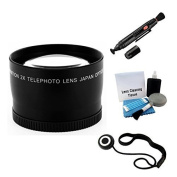49mm Digital Telephoto Lens Bundle for Select Canon Digital Cameras. Includes 2x Telephoto High Definition Lens, Lens Pen Cleaner, Cap Keeper, UltraPro Deluxe Cleaning Kit
