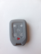 Grey Fob Remote Key Cover Jacket Holder Keyless Fit for 2015 2016 Chevrolet Tahoe Chevrolet Suburban HYQ1AA Gift
