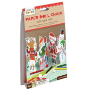 Petit Collage Holiday Fun Paper Doll Chain craft and colour