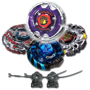 Beyblade Combo 4 Pack Aquila + Mercury Anubis Blue + Variares + Drago Destroy Black with 2x LL2 Launcher and Rip Cord // SHIPPED AND SOLD FROM US