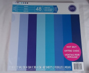 Craft Smith 48 Pages Textured Blue Scrapbooking Paper Pad 12 X 12