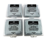 Faber-Castell Erasers - Drawing Art kneaded Erasers, Large size Grey - 4 Pack