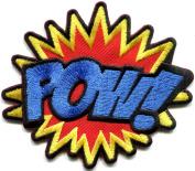 POW! superhero comics retro fun embroidered applique iron-on patch new