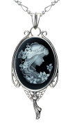 Heart Necklace Best Friend Fashion Jewellery Natural Agate Cameo Charm Make a Wish Gift