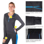 Baleaf Women's Cool Active Sweatshirts 1/2 Zip Running Hoodie