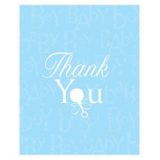 Baby Love Blue Thank You Notes