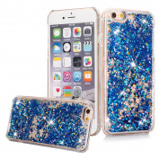 iPhone 7 Plus Case, iPhone 7 Plus Liquid Glitter Case,PHEZEN Creative Design Flowing Liquid Floating Luxury Bling Glitter Sparkle Hard Case for 5.5 Plus inch iPhone 7 Plus - Blue Diamonds