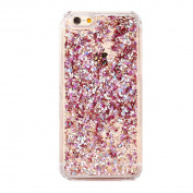 iPhone 7 Plus Case, iPhone 7 Plus Liquid Glitter Case,PHEZEN Creative Design Flowing Liquid Floating Luxury Bling Glitter Sparkle Hard Case for 5.5 Plus inch iPhone 7 Plus - Pink Diamonds