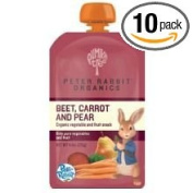 Peter Rabbit Organics Beet Carrot and Pear Vegetable and Fruit Snacks, 130ml -- 10 per case.