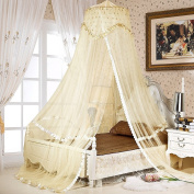 Sinotop Luxury Princess Bed Net Canopy Round Hoop Netting Mosquito Net Bedroom Decor