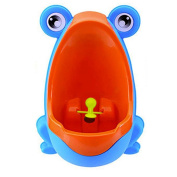 BIGOCT Frog Boys Potty Training Urinal with Whirling Target, Blue