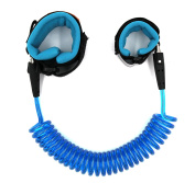 Switol Child Anti Lost Safety Hook and loop Wrist link(blue), safety strap for kids ,up to 250cm