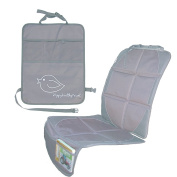 Child Car Seat Protector Makes Cleaning Up Your Car Easier! Thick Padding Preserves Upholstery to Retain Value of Vehicle! Included Kick Mat Organiser Allows Easy Access to Baby Items!