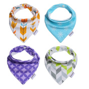 Storeofbaby Baby Bandana Drool Bib with Adjustable Snaps,Cute Vibrant Print Pattern