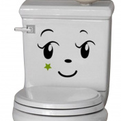 Wall sticker, Hatop Toilet Toilet Stuck Lovely Smiling Face Free To Stick Notebook Stick