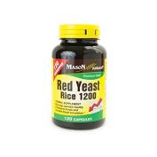Mason Natural Red Yeast Rice 1200 120 Caps